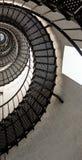 Piękni żelazni schodki wśrodku latarni morskiej od świętego Augustine Obraz Stock