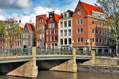 Piękni Amsterdam kanały Fotografia Royalty Free