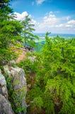 Piękni antena krajobrazu widoki od crowders halnej północy ca Obraz Royalty Free