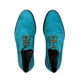 Piękni błękitów buty odizolowywający na białym tle Zdjęcie Royalty Free