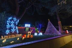 Piękni bożonarodzeniowe światła w górnym Hastings rancho sąsiedztwie Fotografia Royalty Free