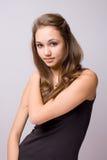 piękni brunetki modela potomstwa zdjęcie royalty free