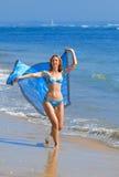 piękni brzegowi indon oceanu kobiety potomstwa obraz royalty free