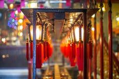 Piękni Chińscy lampiony w Buddyjskiej świątyni mężczyzna Mo wewnątrz Obraz Royalty Free