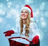 piękni Claus odzieżowi Santa kobiety potomstwa Obraz Royalty Free