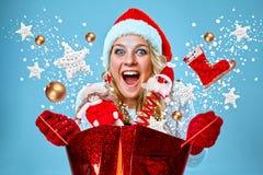 piękni Claus odzieżowi Santa kobiety potomstwa Obraz Stock