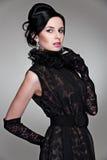 piękni czerń sukni kobiety potomstwa Zdjęcia Royalty Free