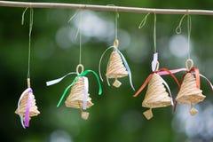 Piękni drewniani dzwony dla dekorować Zdjęcie Stock