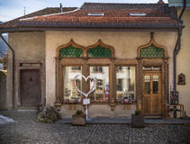 Piękni drewniani okno i drzwi fotografia royalty free