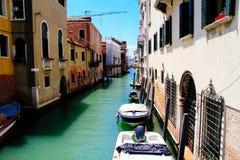 Piękni i niezapomniani kanały Wenecja Obraz Royalty Free