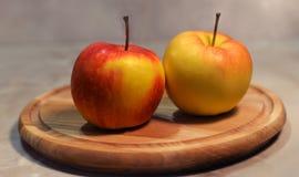 Piękni jabłka Zdjęcia Royalty Free
