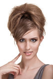 piękni jaskrawy makeup kobiety potomstwa Zdjęcie Stock