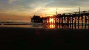 Piękni Kalifornia nieba przy półmrokiem obraz stock