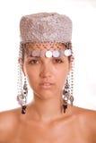 piękni kapeluszu modela potomstwa zdjęcie royalty free