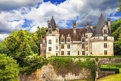 Piękni kasztele Francja zdjęcie stock