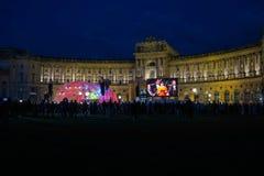 Piękni kolorowi światła przy Fest dera Freude przy Heldenplatz w V obrazy stock
