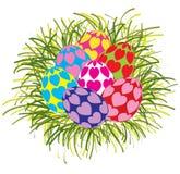 Piękni kolorowi Wielkanocni jajka odizolowywający Obraz Royalty Free