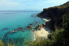Piękni kolory Calabria ` s wybrzeża Fotografia Royalty Free