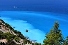 Piękni kolory morze w Lefkada w Greece/ zdjęcie stock