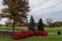 Piękni kolory spadek, Zachodni Lafayette, Indiana fotografia stock