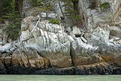 piękni kolory tworzą kamienną skały ścianę Fotografia Royalty Free
