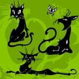 piękni koty ilustracja wektor