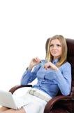 piękni krzesła dziewczyny potomstwa Fotografia Stock