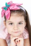 piękni kwiatu dziewczyny włosy menchii potomstwa Fotografia Royalty Free