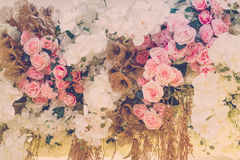 Piękni kwiaty dla valentines i ślub sceny (Filtrujący zdjęcie stock