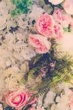 Piękni kwiaty dla valentines i ślub sceny (Filtrujący obraz stock