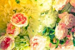 Piękni kwiaty dla valentines i ślub sceny (Filtrujący zdjęcia royalty free