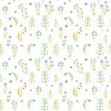 Piękni kwiaty ustawiający, Wektorowy bezszwowy wzór Obrazy Stock