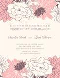 Piękni kwieciści ślubni zaproszenia ilustracji