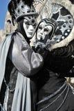 Piękni ludzie w kostiumu przy Wenecja, Włochy 2015 Obrazy Royalty Free