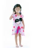 Piękni mała dziewczynka ciosu bąble Zdjęcia Stock