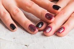 Piękni manicure gwoździe Zdjęcia Stock