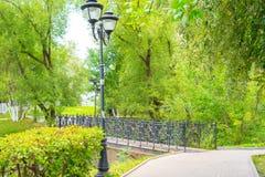 Piękni miejsca w mieście Architektura Sergiev Posada 2018 Miasto Moskwa region zdjęcia royalty free