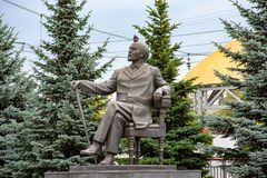 Piękni miejsca w mieście Architektura Sergiev Posada 2018 Miasto Moskwa region obraz stock