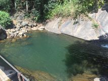 Piękni miejsca w Srilanka riverston obraz royalty free