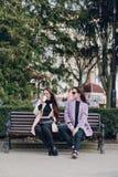 piękni modele młodzi Obraz Royalty Free