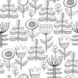 Piękni monochromów kwiaty ustawiający również zwrócić corel ilustracji wektora Zdjęcia Royalty Free