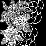 Piękni monochromów kwiaty ustawiający również zwrócić corel ilustracji wektora Fotografia Royalty Free