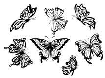 Piękni motyle ilustracja wektor
