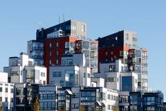 Piękni nowożytni mieszkania w Szwecja Zdjęcie Royalty Free