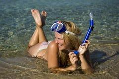 piękni nurkowi szczęśliwi lato kobiety potomstwa Fotografia Royalty Free