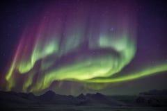 Piękni Północni światła - Arktyczny zima krajobraz Obraz Royalty Free