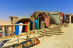 Piękni pamiątka sklepy w pustyni w Tunezja obraz stock