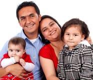 piękni rodzinni szczęśliwi potomstwa Zdjęcie Stock
