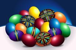Piękni Rumuńscy Barwioni Wielkanocni jajka Fotografia Stock