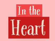 Piękni słowa w sercu w czerwonym kolorze na Lite menchii ścianie ilustracja wektor